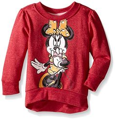 Disney Little Girls Toddler Long Sleeve Minnie Fashion Top Sweatshirt Dark Pink 3T *** You can get more details by clicking on the image.