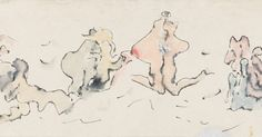 DOROTHEA TANNING  UNTITLED (FRIEZE), C. 1970S  Ink and wash on paper  Unframed: 12.7 x 40.6 cm / 5 x 16 ins  Framed: 36.9 x 62.8 cm / 14 1/2 x 24 3/4 ins