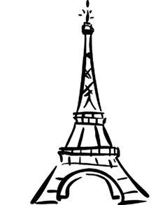Effiel tower,cute, cartoon,easy