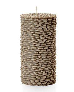 VOLCANICA Grey Grain Medium Pillar Candle