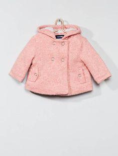 39f4a8911 Abrigo de lana con forro de algodón ROSA Bebé niña - Kiabi