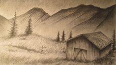 dibujos a lapiz de paisajes - Buscar con Google