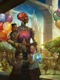 """Future Of Human Aging"", by Julie Dillon Art."