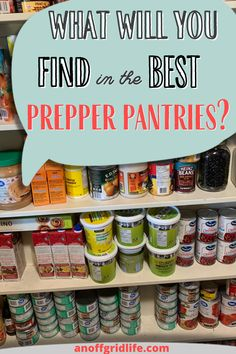 Here's the lowdown on 15 posts about the best prepper pantries in 2021 and tips on stocking your own prepper pantry. Best Emergency Food, Emergency Food Supply, Emergency Supplies, Emergency Preparedness, Freeze Dried Meat, Grab Food, Built In Pantry, Long Term Food Storage, Baking Items
