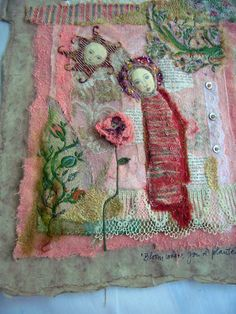 I just love textiles and embroidery the work here is wonderful.