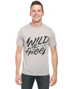 Wild and Free Tee. This product helps Habitat For Humanity build homes, communities, and hope in the USA and around the World! #Sevenly + Habitat For Humanity #ShopForACause #GiveBack ❤️
