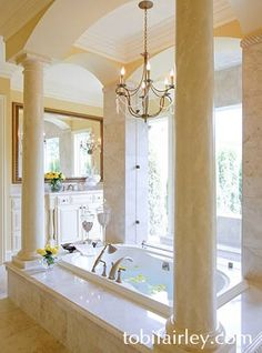 Elegant master bathroom design by Tobi Fairley