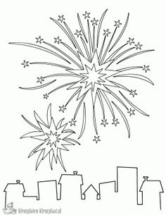 preschool fireworks coloring pages printable. Fireworks have been known as a sign of the passage of the year. Various forms of fireworks often decorate the New Year's Eve in various regions. Colouring Pages, Printable Coloring Pages, Coloring Sheets, Coloring Books, Fireworks Craft, New Year Fireworks, Patriotic Crafts, July Crafts, 4th Of July Celebration