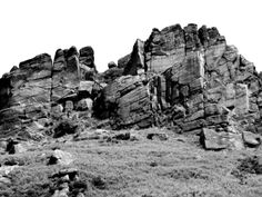 Hen Cloud is a steep outcrop of gritstone looking a little like a ruined castle. It is just about two miles from the Green Chapel Staffordshire Uk, Green Knight, Climbing, Mount Rushmore, Castle, Clouds, Mountains, Landscape, Places