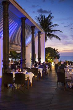 Ocean Beach Club serves high-end Thai and Western cuisine. #Hilton #Phuket