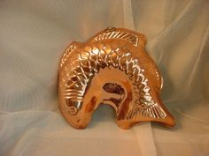 Vtg Copper Salmon Fish Mold Decorative Wall Hanging Brass Loop Gelatin 8 by 9 in Seller florasgarden on ebay