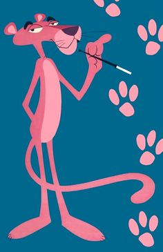 The Pink Panther (1970s) with cigarette holder