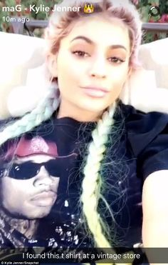 Tyga's girl! Kylie later posted a Snap of herself wearing a shirt emblazoned with her boyfriend's face
