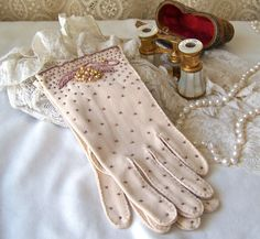 Vintage Beaded Gloves by cynthiasattic on Etsy, $34.00