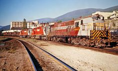 CP, Nelson, British Columbia, 1973 Canadian Pacific Railway locomotives including Fairbanks-Morse H-24-66 no. 8905 at Nelson, British Columbia, on July 13, 1973. Photograph by John F. Bjorklund, © 2015, Center for Railroad Photography and Art. Bjorklund-36-18-07