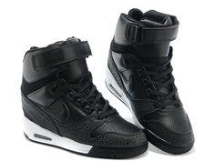Nike Air Revolution Sky Hi GS Chaussures Montante Nike Pas Cher Pour Femme Noir/Blanc 599410-003