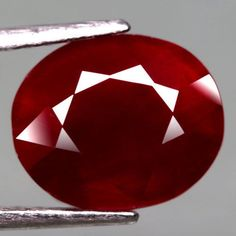 5.95CT.GLORIOUS! OVAL FACET TOP BLOOD RED NATURAL RUBY MADAGASCAR #GEMNATURAL