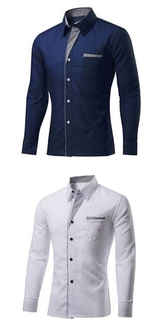 US$15.99 + Free shipping.Men's Shirt, Mens Casual Shirt, Mens Stitching Shirt, Mens Summer Slim Fit Shirt. 20%Cotton, 11 colors for your choice.