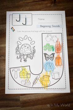 Beginning Sounds Color It - letter J. (Includes like to free printable).