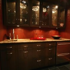 basement kitchenette-contemporary media room by Lori Withey