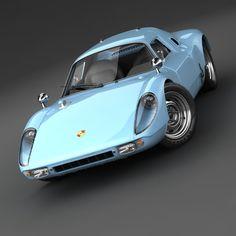 3d model porsche 904 gts - Porsche 904 GTS... by 3d_molier