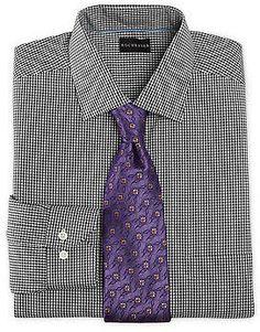 Plum silk road gingham check slim fit shirt men 39 s dress for Mens dress shirts charles tyrwhitt