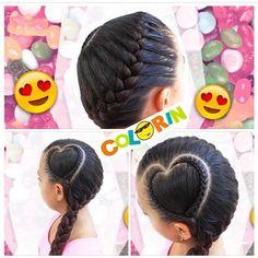 Esta es el #peinado más lindo de los que hacemos en #colorin #peluquerias para este día especial de #sanvalentin feliz día a todos nuestros seguidores