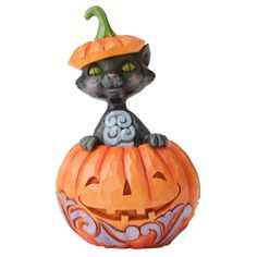 Shop Jim Shore Heartwood Creek Mini Cat in Pumpkin at Boscov's online! Find a huge selection of Collectible Figurines & Accents for the lowest prices today! Halloween Town, Spirit Halloween, Halloween Masks, Baby Halloween, Halloween Themes, Halloween Pumpkins, Halloween Decorations, Halloween Ornaments, Peter Rabbit Nursery