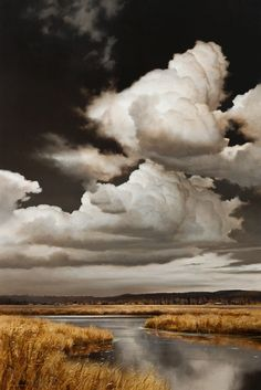 Beautiful nature paintings by Renato Muccillo Fine Arts Studio Landscape Photos, Abstract Landscape, Landscape Paintings, Landscape Photography, Nature Photography, Nature Paintings, Night Photography, Beautiful Sky, Beautiful Landscapes