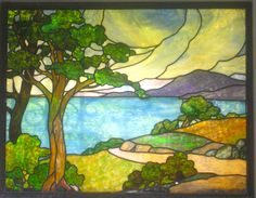 Stained glass landscape by Piemouth, via Flickr