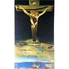 Salvador Dali Christ of Saint John of the Cross Vintage Lithograph, Small