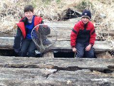 Elijah and Caleb fishing