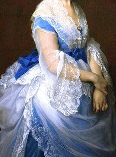 Baroness von Derwies, Detail. 1871, by Alexandre Cabanel (1823 – 1889)