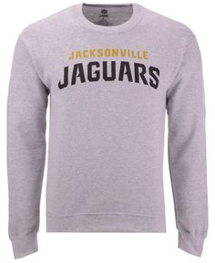 NFL Jacksonville Jaguars Ultra Game Mens LS POLY CREW NECK TEE Heather Gray Large