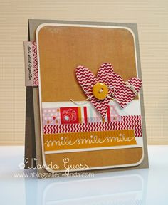 Love this card as a great everyday card designed with washi tape from www.ablogcalledwanda.com