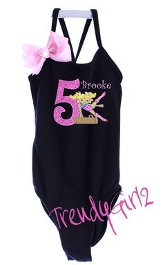 Custom Boutique Girl Gymnastic Gymnast by TrendyGirlzCouture, $49.50