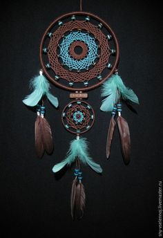 DREAM•CATCHER IN BROWN AND TURQUOISE