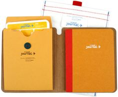"baggage check travel journal Don't leave home without this amazing travel journal to save those memories! Heavy duty cover with room to write up notes, checklist, itinerary, and doodles. Envelope included for important items. Comes with pouch. 160 pgs. 5.25""x6​"" [fredflare.com​/customer/produ​ct.php?producti​d=3960&styl​e=N/A#] [A-WL+ 03.04.11] 