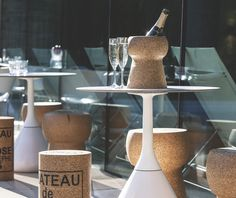 Glassware – Giant Champagne Cork Cooler – a unique product by xlcork on DaWanda Champagne Corks, Buckets, Wine Rack, Outdoor Gardens, Dining Table, Unique, Furniture, Home Decor, Decoration Home