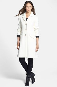 Helene+Berman+Shaped+Wool+Blend+Coat+available+at+#Nordstrom, not in petite
