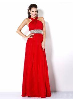 Modern A-Line Halter Beading Floor-Length Evening Dress - https://blog.oncewedding.com/2015/12/30/modern-a-line-halter-beading-floor-length-evening-dress/