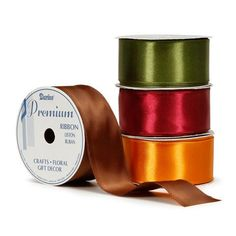 Bulk Buy: Darice DIY Crafts Satin Ribbon Assorted Dark Colors 1-1/2 inches x 7 yards (72-Pack) 2966-75 * To view further for this item, visit the image link.