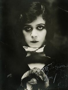 """To be good is to be forgotten. I'm going to be so bad I'll always be remembered."" -Theda Bara (Photoplay, June 1920)"