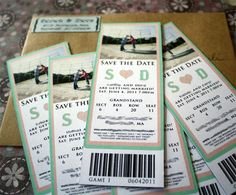 Save the date tickets-these are really cute!!