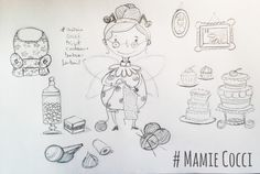 www.lespetitsbrins.com Illustration jeunesse - Croquis - Grand-mère
