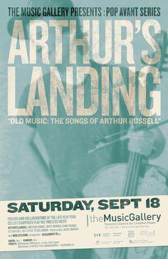 Arthur's Landing  •  Music Gallery poster  •  designed by jjparé  •  jjpare.tumblr.com John Stevens, Old Music, Poster Layout, Layout Inspiration, Landing, Posters, Gallery, Design, Poster