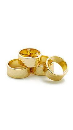 ¡Consigue este tipo de anillo de Gorjana ahora! Haz clic para ver los detalles. Envíos gratis a toda España. Gorjana Evie Statement Ring Set: Hammered Gorjana rings in assorted sizes. Set of 4. 18k gold plate. Imported, China. (anillo, anilla, anillas, anillo, sortija, sortijas, ring, rings, ring, anillo, bague, anello, anillos)