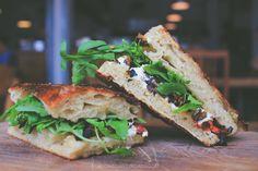 el pan de la chola, lima, peru  Artisan Flatbread Sandwiches