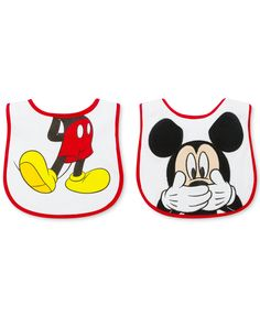 First Impressions Baby Boys' 2-Pack Mickey Mouse Bibs