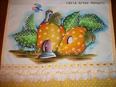 Catia Artes Manuais: PASSO A PASSO PINTURA CASINHAS COUNTRY